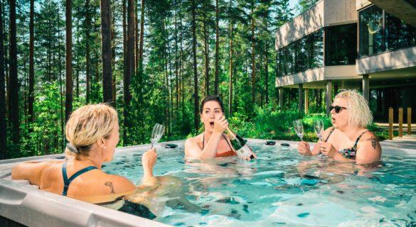 Hotel Sveitsi Seasons sauna poreamme